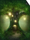 Fantasy Tree House Prints by  egal