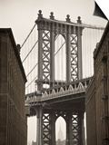 Manhattan Bridge and Empire State Building, New York City, USA Posters by Alan Copson