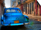 Blue Car in Havana, Cuba, Caribbean Posters by Nadia Isakova