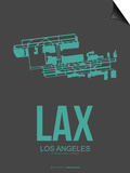Lax Los Angeles Poster 2 Poster by  NaxArt