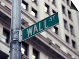 Wall Street Sign, Financial District, NYC, NY Prints by Michael Evans