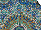 Close-Up of Mosaics in Hassan Ii Mosque, Casablanca, Morocco Kunst af Cindy Miller Hopkins