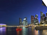 Singapore, Merlion Park and Singapore Skyline Print by Michele Falzone