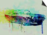 Ford Mustang Watercolor 2 Print by  NaxArt