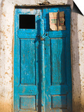 Afghanistan, Faryab Province, Maimana, Blue Mosque Door Posters by Jane Sweeney