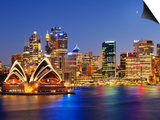 Australia, New South Wales, Sydney, Sydney Opera House, City Skyline at Dusk Prints by Shaun Egan