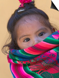 Portrait of a Young Indian Girl, Cusco, Peru Kunstdrucke von Keren Su