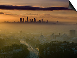 Dawn View of Downtown, Los Angeles, California, USA Prints by Walter Bibikow