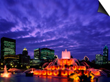 Buckingham Fountain and City Skyline, Chicago, Illinois, USA Posters by Steve Vidler