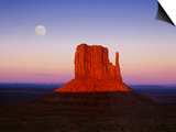Moon Over Monument Valley, Arizona Print by Peter Walton