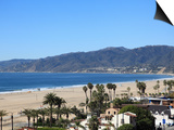 Beach, Santa Monica, Malibu Mountains, Los Angeles, California, Usa Prints by Wendy Connett