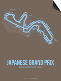 Japanese Grand Prix 1 Print by  NaxArt