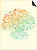Beautiful Vintage Hand Drawn Tree Of Life Prints by  transiastock