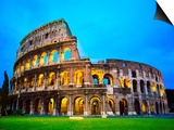 The Colosseum in Rome at Night Prints by Terry Why