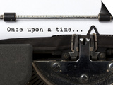 "Words ""Once Upon A Time"" Written With Old Typewriter Posters by  foodbytes"