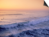 Surfers, Mission Beach, San Diego, California Prints by James Lemass