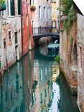 Reflections and Small Bridge of Canal of Venice, Italy Posters by Terry Eggers