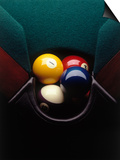 Pool Balls in Corner Pocket Print by Howard Sokol