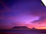 Table Mountain, Sunset, Cape Town, South Africa Art by Steve Vidler