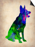 German Sheppard Watercolor Prints by  NaxArt
