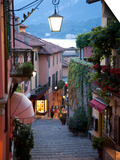 Shopping Street at Dusk, Bellagio, Lake Como, Lombardy, Italy, Europe Posters by Frank Fell