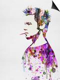 Anna Malkin - Fight Club Watercolor Plakát