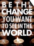 Incarnez le changement Posters par Chuck Haney
