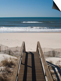 New York, Long Island, the Hamptons, Westhampton Beach, Beach View from Beach Stairs, USA Prints by Walter Bibikow