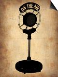 Vintage Radio Microphone Posters by  NaxArt
