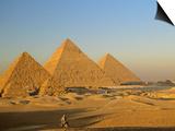 Giza Pyramid, Giza Plateau, Old Kingdom, Egypt Poster by Kenneth Garrett