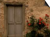 Tuscan Doorway, Castellina, Il Chianti, Tuscany, Italy Poster by Walter Bibikow