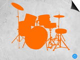 Orange Drum Set Print by  NaxArt