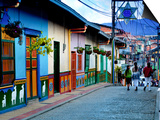 Guatape, Colombia, Outside of Medellin, Small Town known for its 'Zocalos' Panels of Three Dimensio Poster by John Coletti