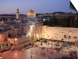 Wailing Wall, Western Wall and Dome of the Rock Mosque, Jerusalem, Israel Prints by Michele Falzone
