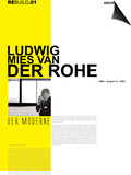 Mies Van Der Rohe Poster Poster by  NaxArt