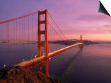 Golden Gate Bridge at Sunset, CA Posters by Kyle Krause