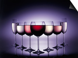 Glasses of Wine Print by Kurt Freundlinger