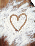 Heart Shape in Flour Prints by Neil Overy