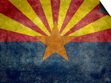 Arizona State Flag - With Distressed Treatment Prints by Bruce stanfield