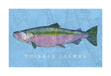 Chinook Salmon Posters by John W. Golden