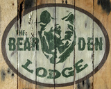 The Bear Den Lodge Print by Katelyn Lynch
