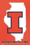 University Of Illinois - Logo 14 Poster