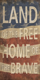Land of the Free Home of the Brave Posters by  Sparx Studio