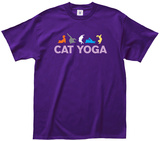 Chat faisant du yoga T-Shirts
