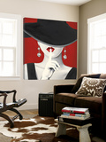 Hoge hoed Rood I Poster van Marco Fabiano