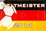 2014 Soccer Weltmeister - Deutschland Plastic Sign