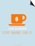 Coffee Poster Orange Reproducción por NaxArt
