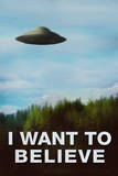 The X-Files I Want To Believe TV Plastic Sign Plastic Sign