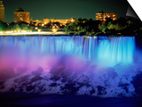 Niagara Falls with Blue Light, NY Posters by Rudi Von Briel