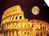 The Colosseum at Night, Rome, Italy Plakater af Terry Why